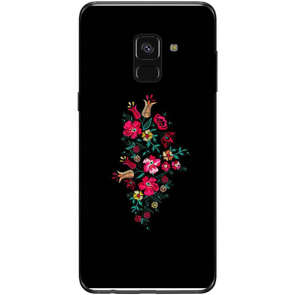 Husa Simple flower design Samsung Galaxy A8 2018-Guardo.shop