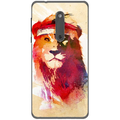 Husa The lion painting Nokia 5