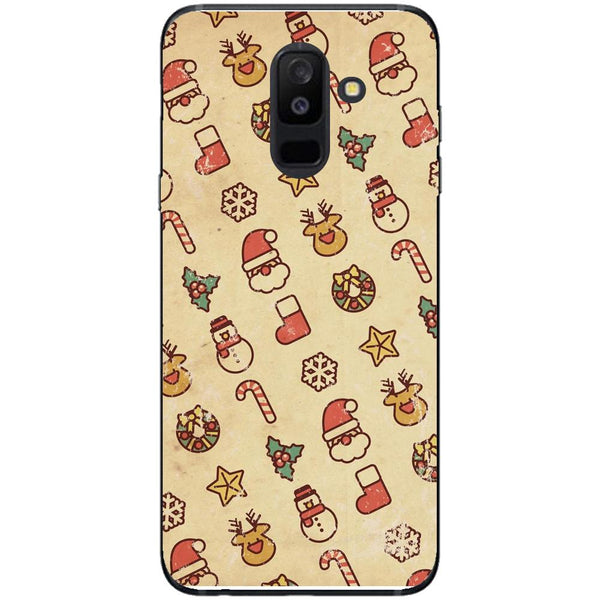 Husa Vintage Christmas papper pattern Samsung Galaxy A6 PLUS 2018-Guardo.shop