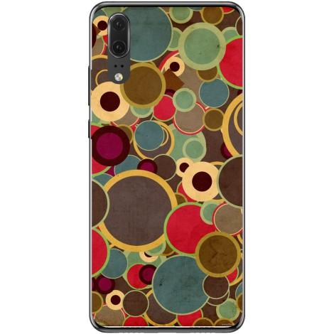 Husa Vintage coloured circles pattern Huawei P20