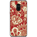 Husa White floral red texture pattern Samsung Galaxy A8 PLUS 2018