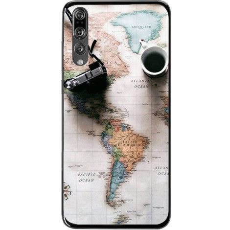 Husa World maps travel Huawei P20 Pro