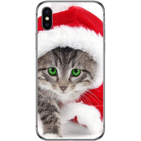 Husa X-mas Kitty Iphone Xs