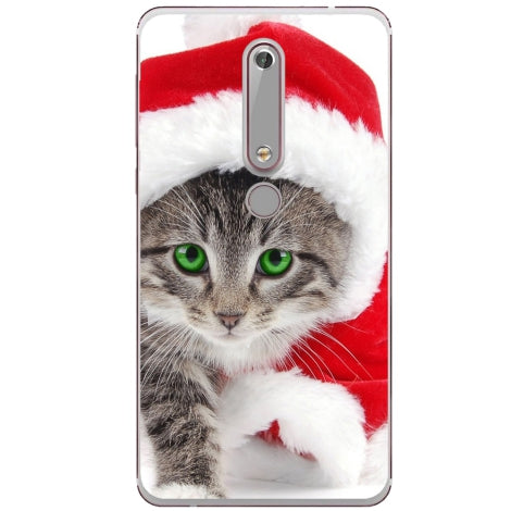Husa X-mas Kitty Nokia 6.1 2018