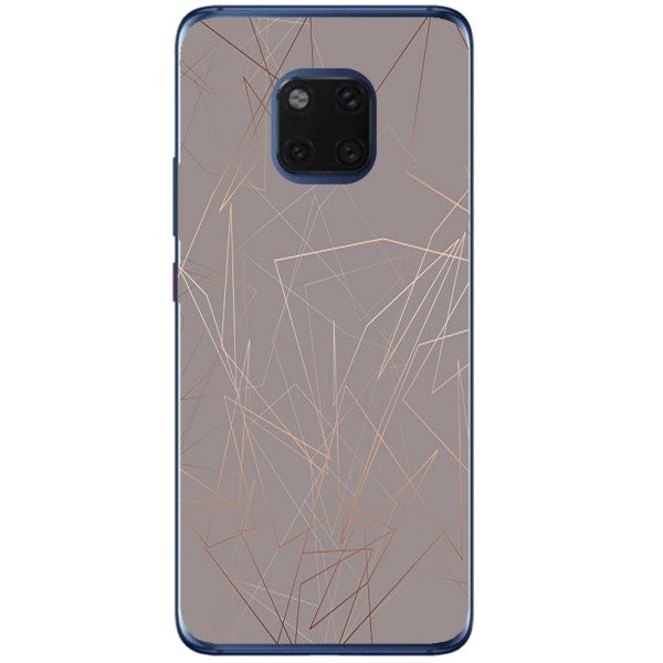 Husa Beige Lines Marble Huawei Mate 20 Pro