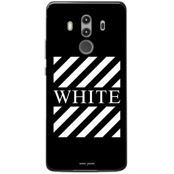 Husa Blach White Stripes Huawei Mate 10