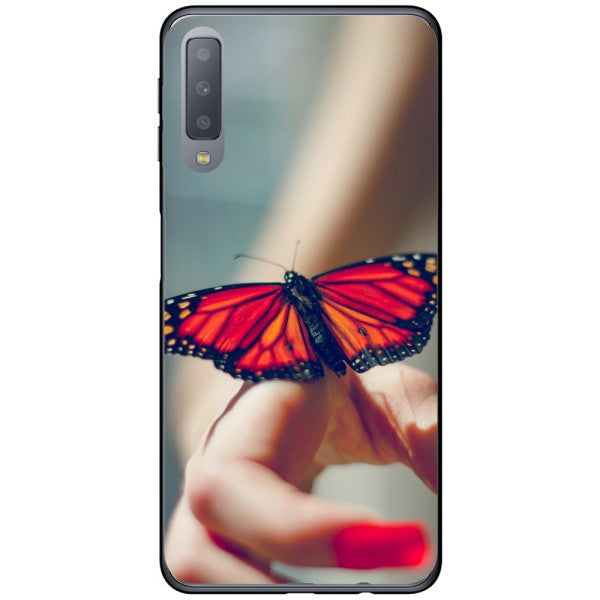 Husa Butterfly on hand Samsung Galaxy A7 2018