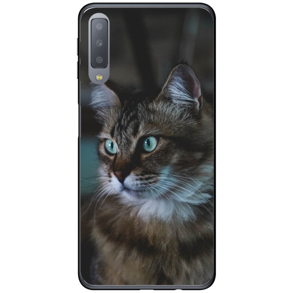 Husa Cat fluffy muzzle Samsung Galaxy A7 2018