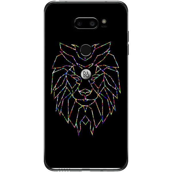 Husa Colorful Polygon Lion LG V30
