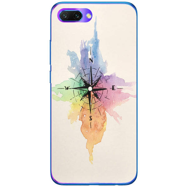 Husa Watercolor Compass Huawei Honor 10