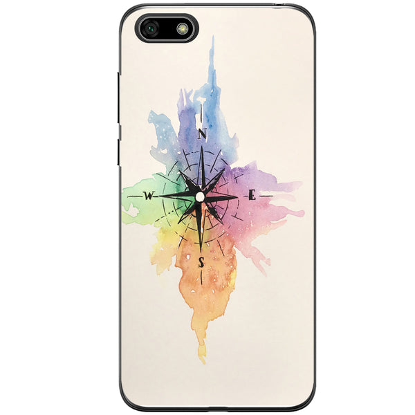 Husa Watercolor Compass Huawei Y5 2018