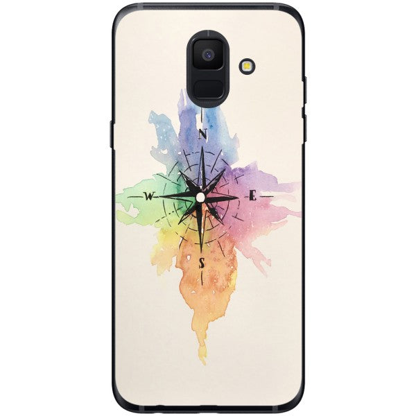 Husa Watercolor Compass Samsung Galaxy A6 2018