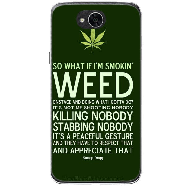 Husa Weed Message LG X Power 2