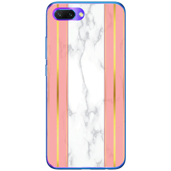 Husa White Marble with pink lines Huawei Honor 10