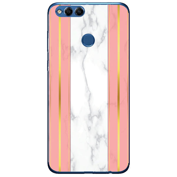 Husa White Marble with pink lines Huawei Honor 7x