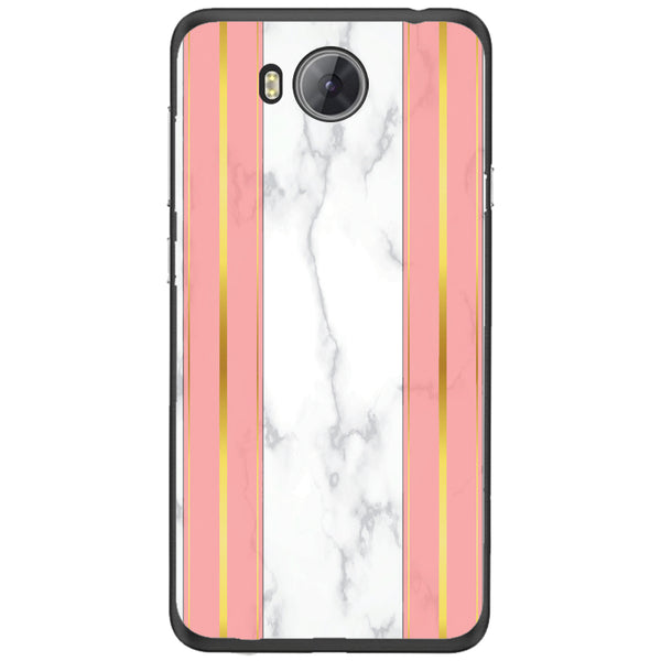 Husa White Marble with pink lines Huawei Y3 II