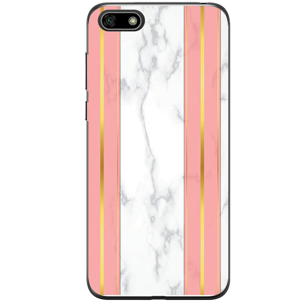 Husa White Marble with pink lines Huawei Y5 2018