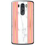 Husa White Marble with pink lines LG G3