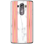 Husa White Marble with pink lines LG G4