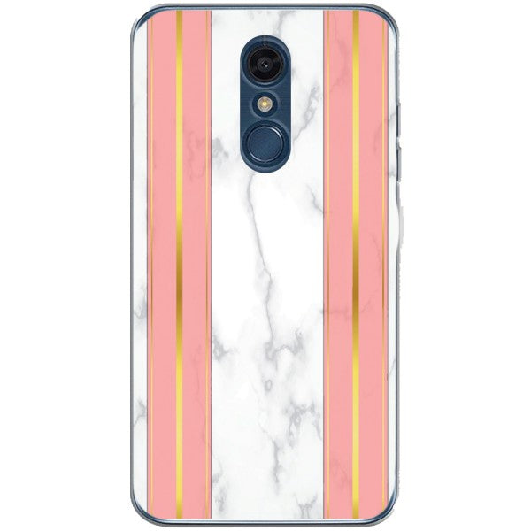 Husa White Marble with pink lines LG K10 2018