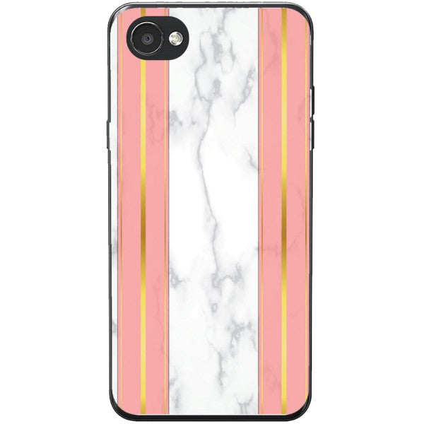 Husa White Marble with pink lines LG Q6