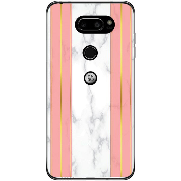 Husa White Marble with pink lines LG V30