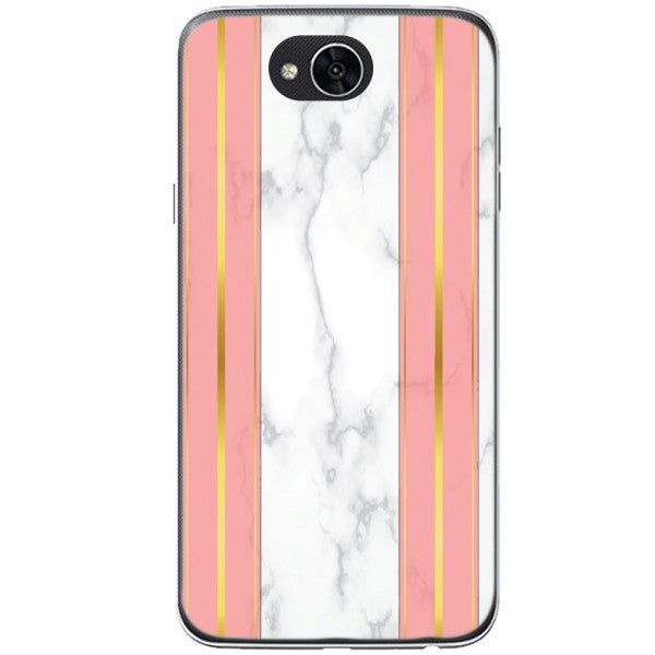 Husa White Marble with pink lines LG X Power 2