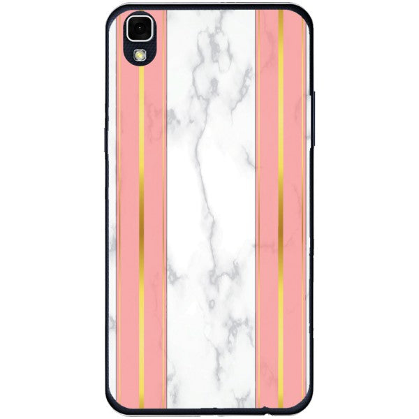 Husa White Marble with pink lines LG X Power