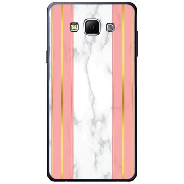 Husa White Marble with pink lines Samsung Galaxy A7