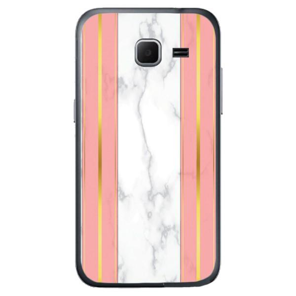 Husa White Marble with pink lines Samsung Galaxy Core Prime