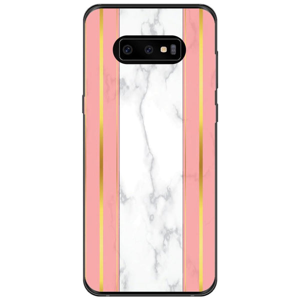 Husa White Marble with pink lines Samsung Galaxy S10