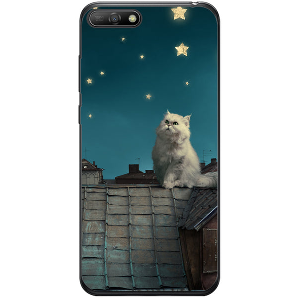 Husa White Persian Cat Huawei Y6 2018