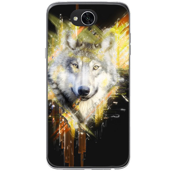 Husa Wolf muzzle art LG X Power 2