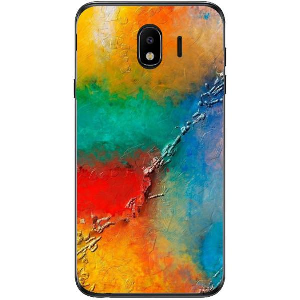 Husa Yellow Red Shadows Samsung Galaxy J4 2018