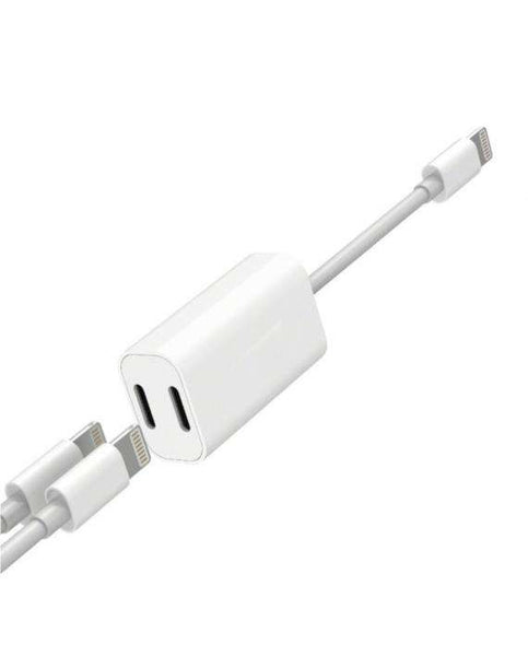 Cablu adaptor 2 in 1 pentru iPhone X, iPhone 7 Plus/8 Plus si iPhone 7/8 – Y Cable-Guardo.shop