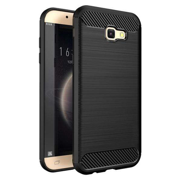 Husa Carbon Flexible Cover TPU pentru Samsung Galaxy A3 2017 A320 black Guardo.shop