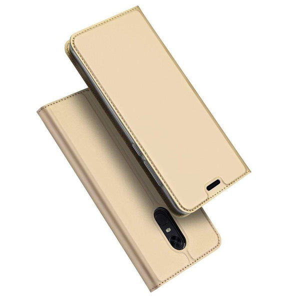 Husa DUX DUCIS Skin Pro tip Carte pentru Xiaomi Redmi 5 Plus / Redmi Note 5 (single camera) golden DUX DUCIS