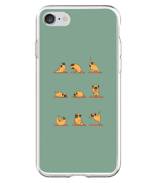 Husă Funny Pug Doing Yoga APPLE Iphone 7 Guardo.shop