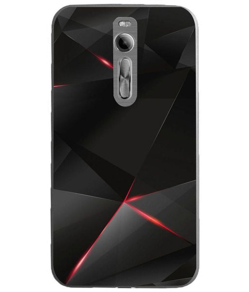 Husă Gemoetric Pyramids Black And Red ASUS Zenfone 2 Ze551ml Guardo.shop