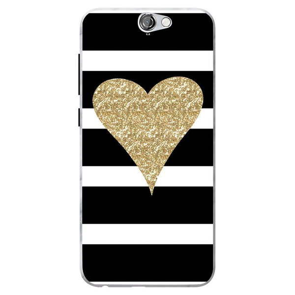 Husă Glitter Heart HTC One A9 Guardo.shop