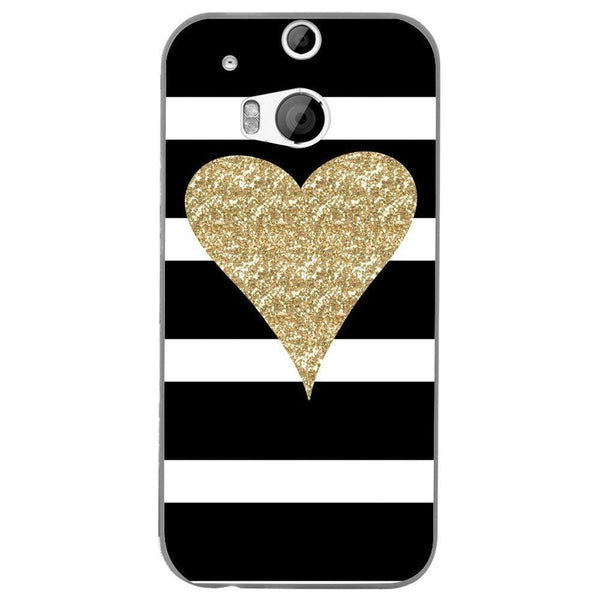 Husă Glitter Heart HTC One M8 Guardo.shop