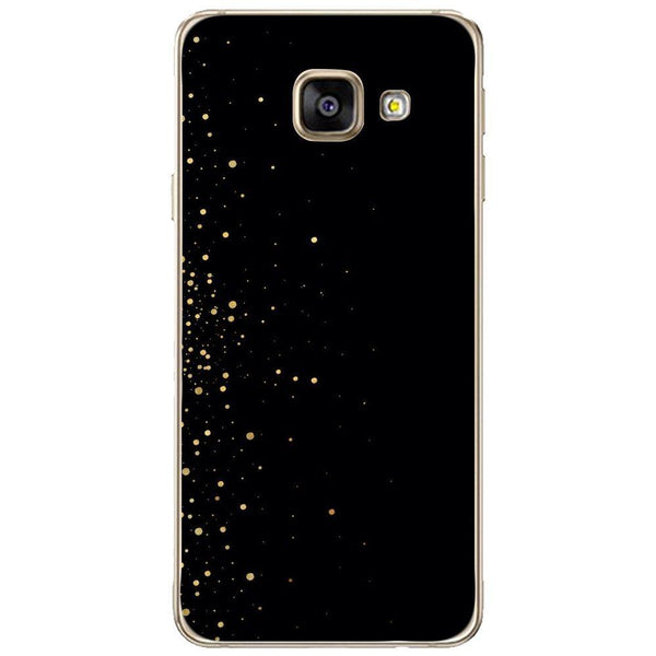 Husă Gold Cercle On Black SAMSUNG Galaxy A3 2016 Guardo.shop
