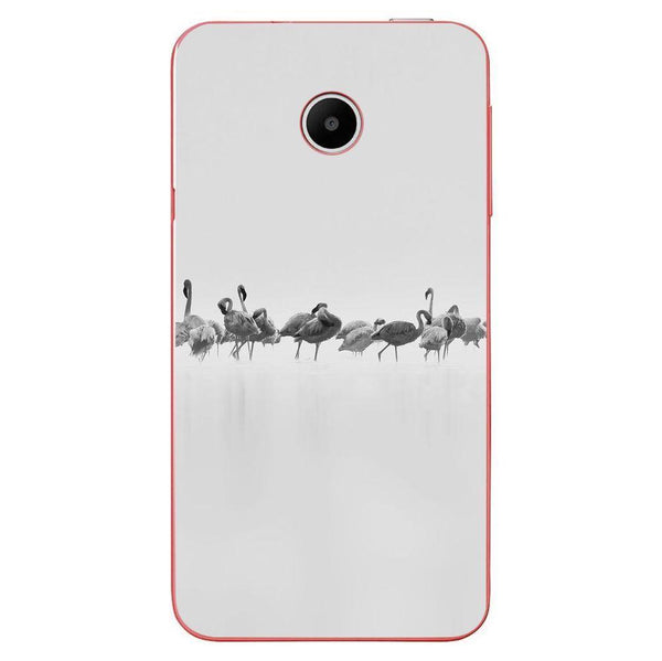 Husă Grey Flamingos Art HUAWEI Y330 Guardo.shop