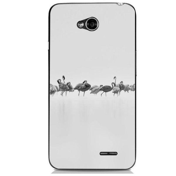 Husă Grey Flamingos Art LG L70 Guardo.shop