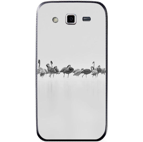 Husă Grey Flamingos Art SAMSUNG Galaxy Grand 2 Guardo.shop