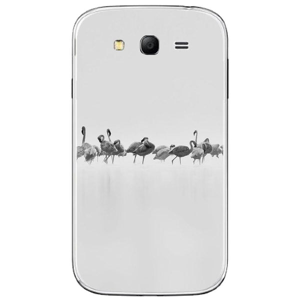 Husă Grey Flamingos Art SAMSUNG Galaxy Grand Guardo.shop