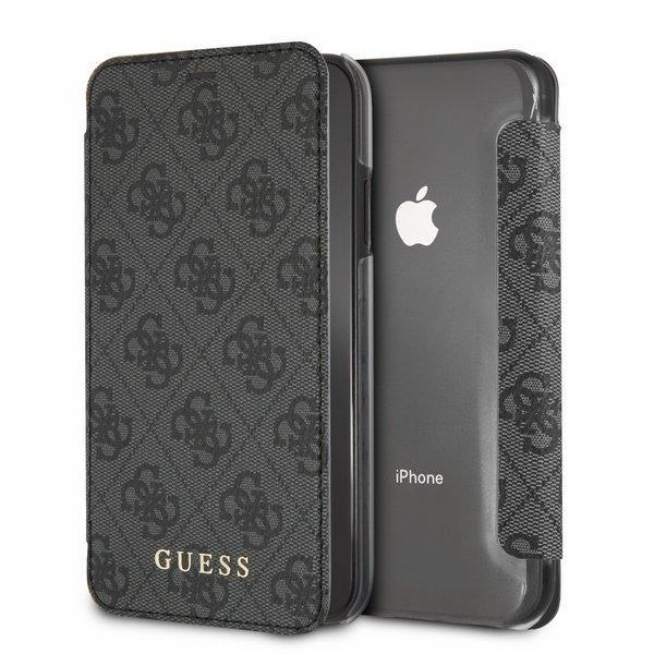 Husa Guess GUFLBKI61GF4GGR iPhone Xr grey 4G Charms Collection