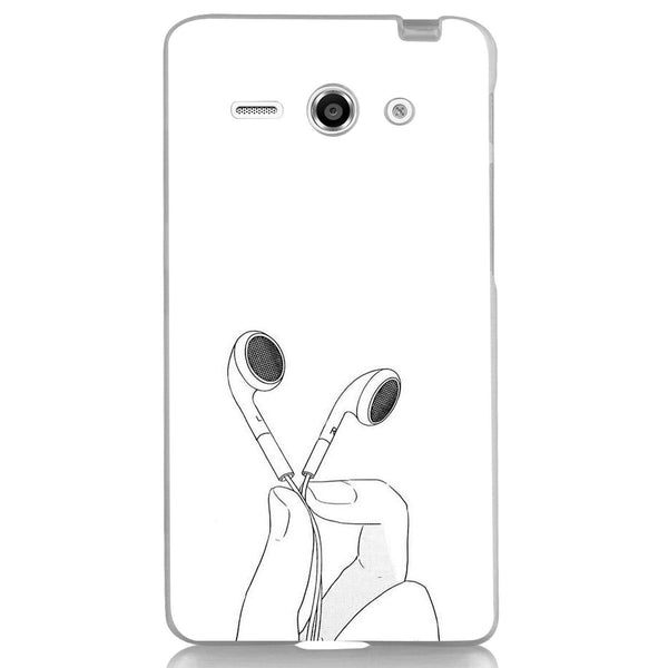 Husă Hands With Headphones White Background HUAWEI Y530 Guardo.shop