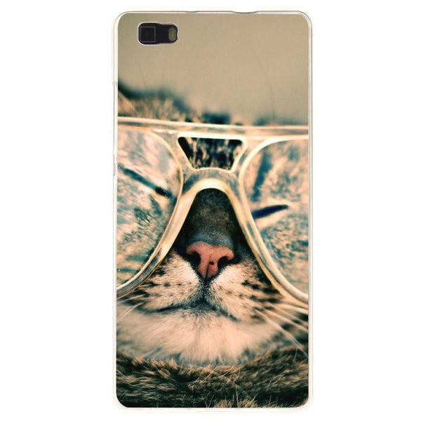 Husă Hipster Cat HUAWEI P8 Lite Guardo.shop