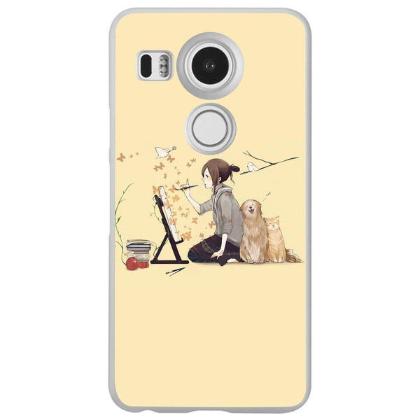 Husă Illustrator Dog Cat Art Illust LG Nexus 5x Guardo.shop